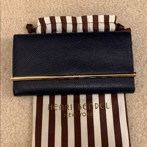 Henri Bendel Navy Blue Wallet